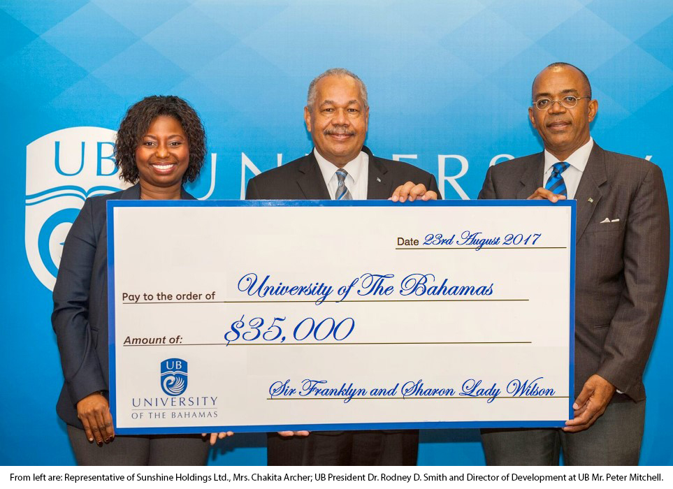 Sir Franklyn & Lady Wilson Support Endowed Scholarships at UB