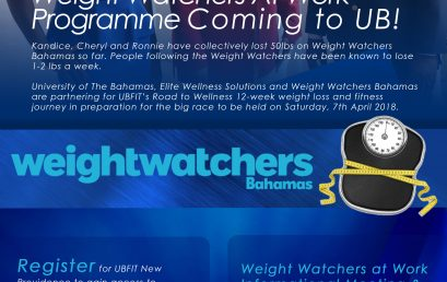 UBFIT's Road to Wellness – Weight Watchers at Work Programme Coming to UB.