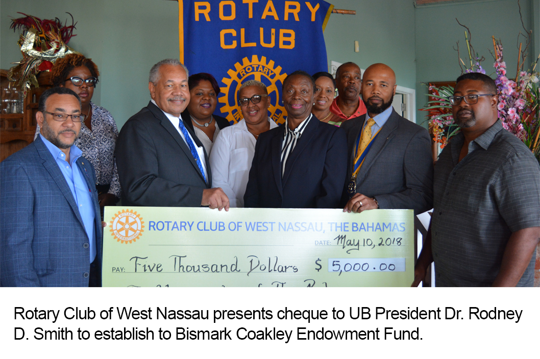 Rotary Club of West Nassau Establishes Endowment In Honour of the Late Bismark Coakley