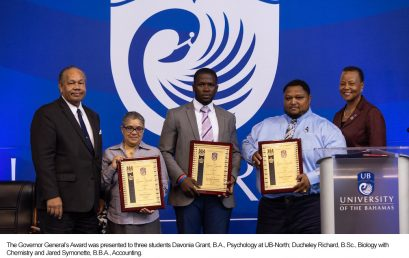 UB Honours Outstanding Achievement Three-Way Tie for Top Award