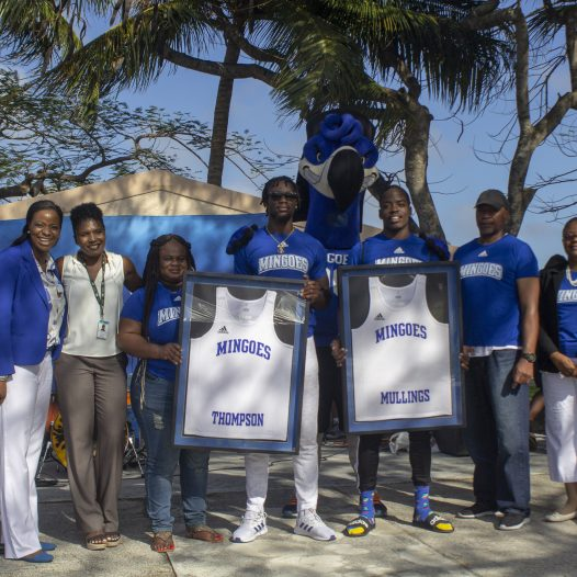University of The Bahamas Pays Homage to Top Ranked Heptathletes, Mullings and Thompson