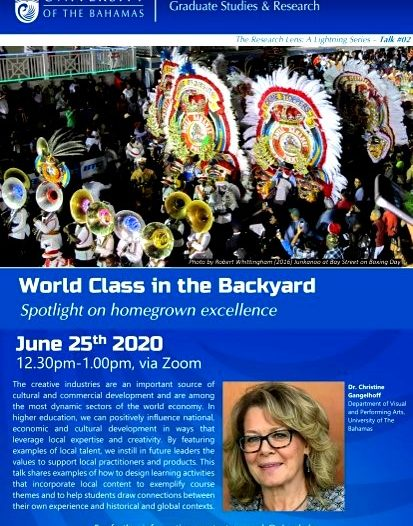 World class in The Backyard hosted by Graduate Studies and Research